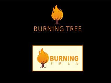 Burning tree Logo Design