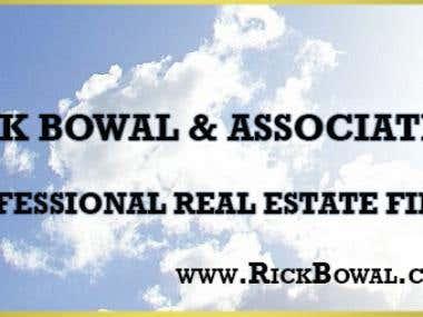 Banner Desigh for Rick Bowal