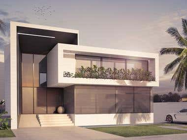 ARCHITECTURAL RENDERING / Modern Home