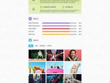 Resume Web Template