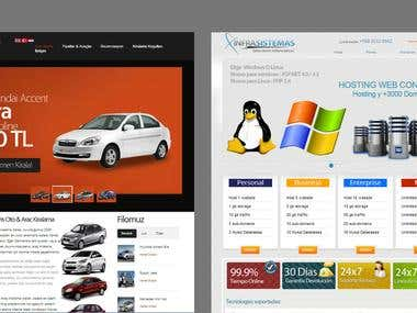 rent a car and webhosting websites