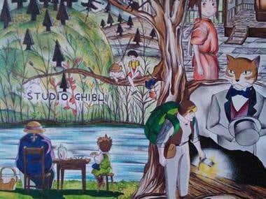 Studio Ghibli Fan Art Poster