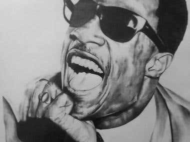Ray Charles drawing