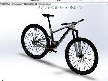 bike design in Solidworks