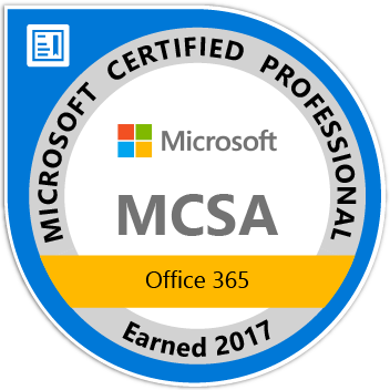 MCSA Office 365 (Microsoft Certified Professional)