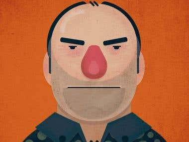 Tony Soprano Illustration