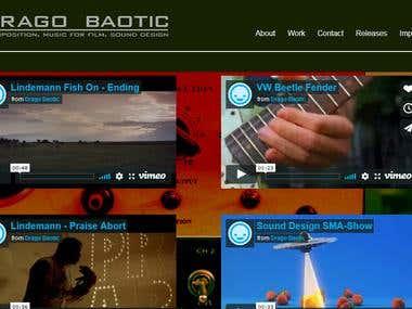Music Dynamic Website