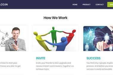 MLM Dynamic Website