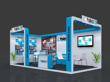 Design and Rendering of Booth by using 3ds Max