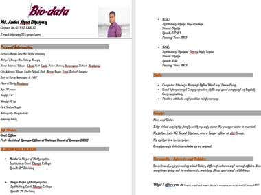 Marriage CV!!