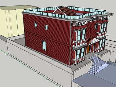 3D Modeling of Complex Exterior of Building in SketchUp