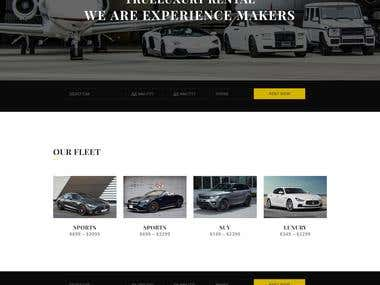 Build a web site for car rental