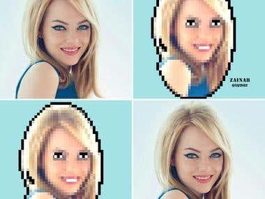Retro 8-bit Pixel portrait