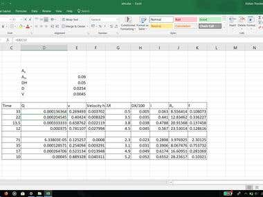 My some work in excel.