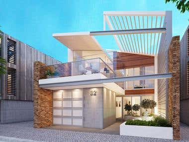 house exterior render