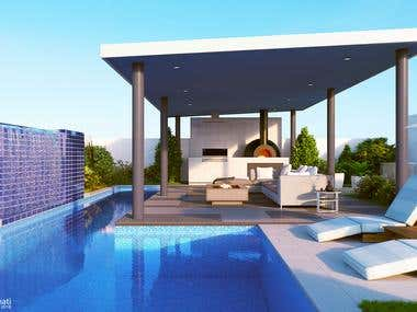 pool and outdoor render