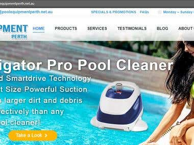Pool Equipment Website