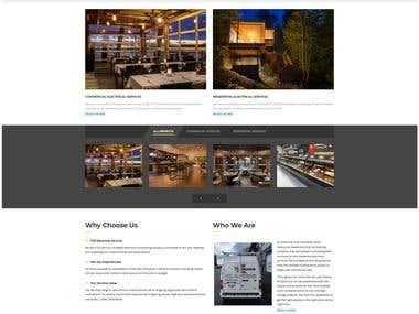 Commercial & Residential Electrical Website Development