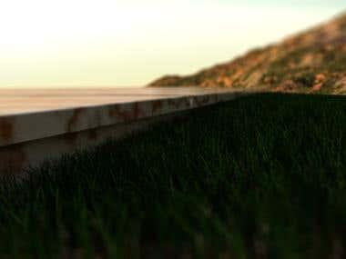 Landscape Grass Scene