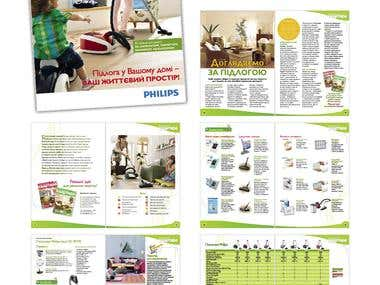 Joint brochure Philips with magazine Cosy apartment