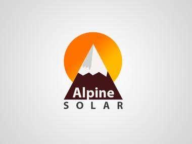 Alpine Solar Logo