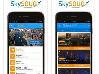 Travel app to book flights online iOS & Android