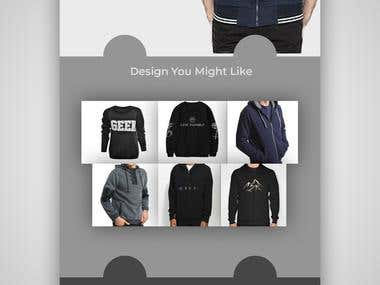 Trendy Sweatshirts Web Design