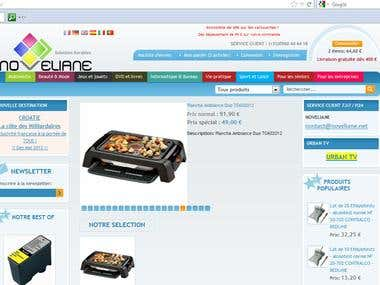Site e-commerce sous Magento