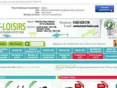 Refonte fonctionnelle et graphique site e-commerce