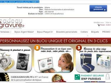 Site bijoux personnalisés