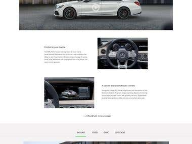 Car Website PSD to HTML