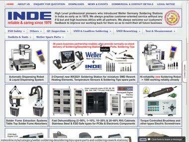 Electronics Company website