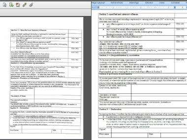 PDF Layout to Word Document
