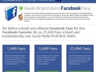 Facebook Fans Website