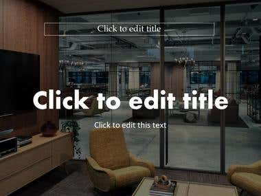 PowerPoint template for Interior Designing company