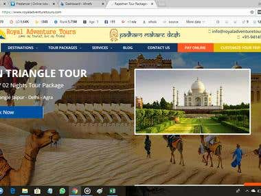 off page and of page seo for indian travel website