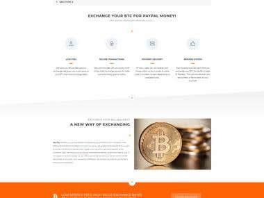Cryptocurrency conversion site