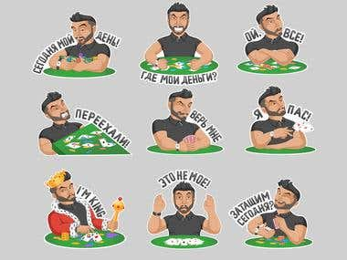 Stickers poker