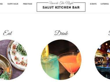 salutkitchenbar | Restaurant website