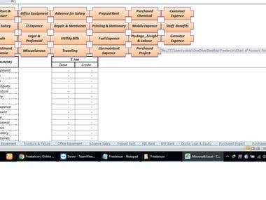 Chart of Account Format