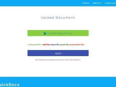 QuickDocx - MVC- PHP- MYSQL- BOOTSTRAP