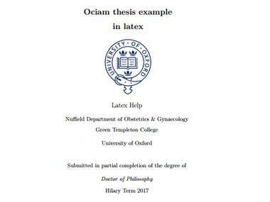 overview of ociam thesis in latex
