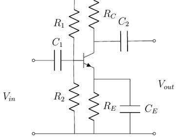 elecltronics circuit drawn in latex