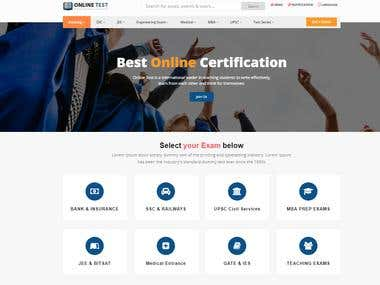 Online Test and Education Portal