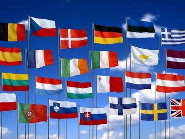 Translation 60+ Languages pairs over the world