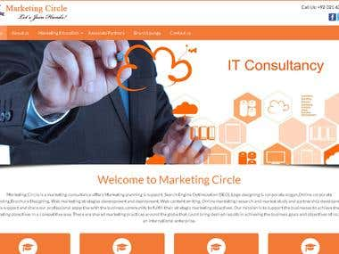 Website Creation for Online Marketing Consultant Company