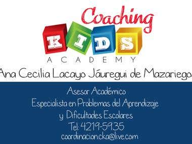 Coaching Kids Academy Business Card