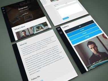 HTML to Wordpress Photography Site