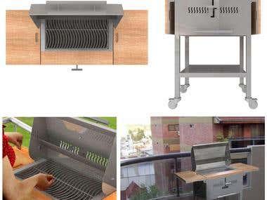 Smith Falchetti barbecue grill
