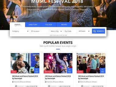 Event Listing and booking platform